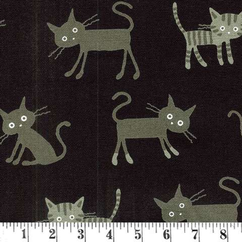 AD388 Soya - Cats Galore - Linen