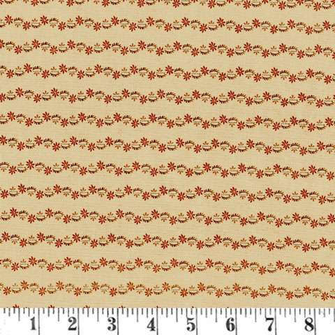 AD402 Reflections - Sweet Floral Tripe - Rust/Buff