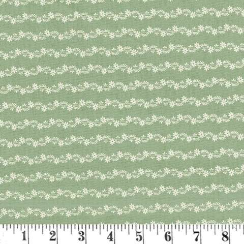 AD411 Reflections - Sweet Floral Tripe - Light Blue