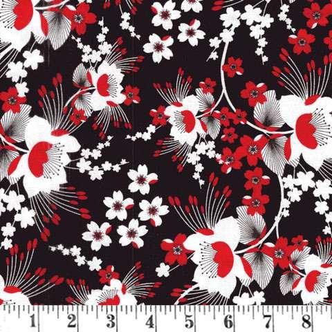 AD427 Moon Flower - Black Chrysanthemun Blossom