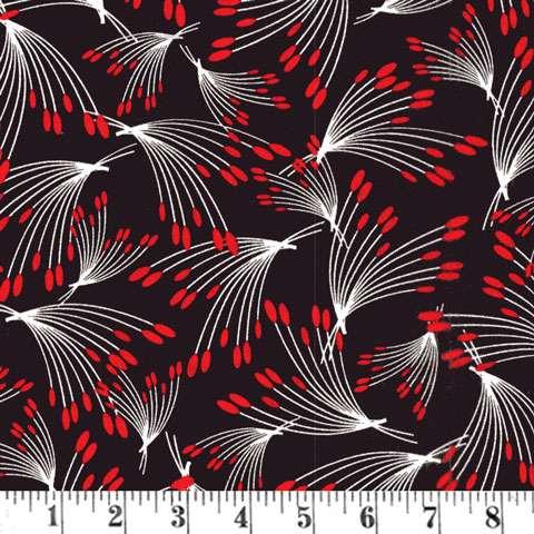 AD429 Moon Flower - Black/Red Oshi Stem