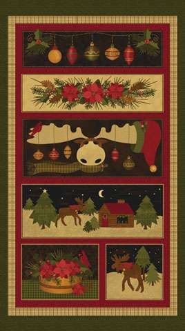 AD430 A Moose For Christmas - Panel