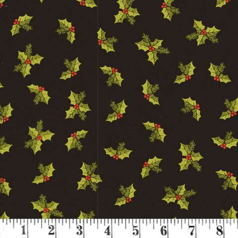 AD433 A Moose For Christmas - Black Holly