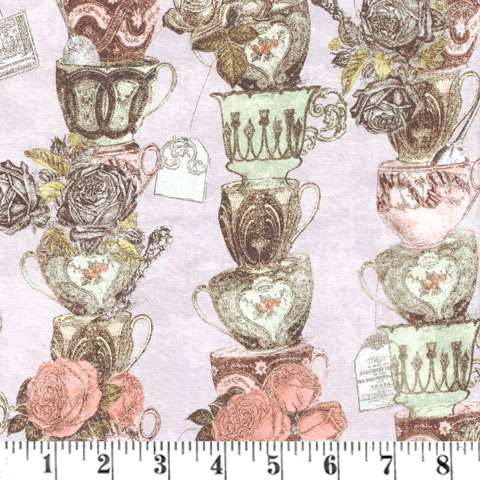 AD441 Tea Time - Tea Cup Stack