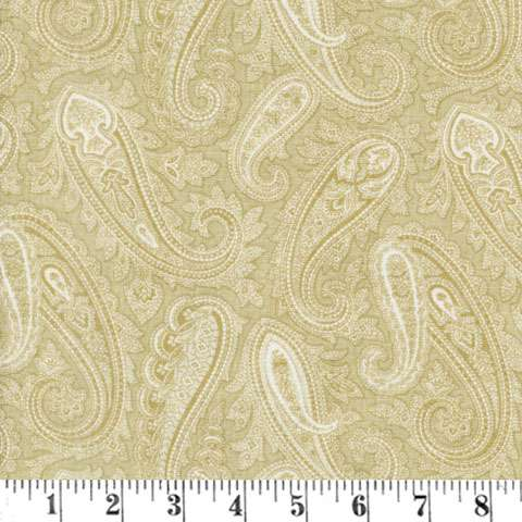 AD495 Extra Wide Backing - Tan Paisley