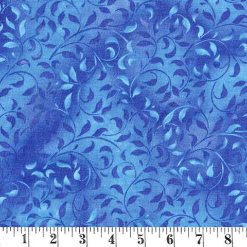 AD497 Extra Wide Backing - Medium Blue Leaves preview