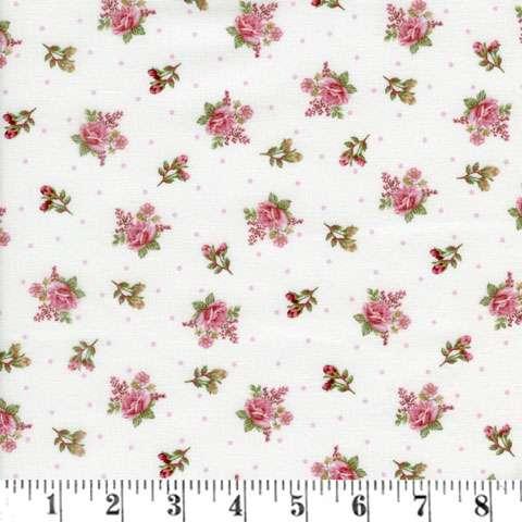 AD501 Peaceful Garden - Cream Small Flower