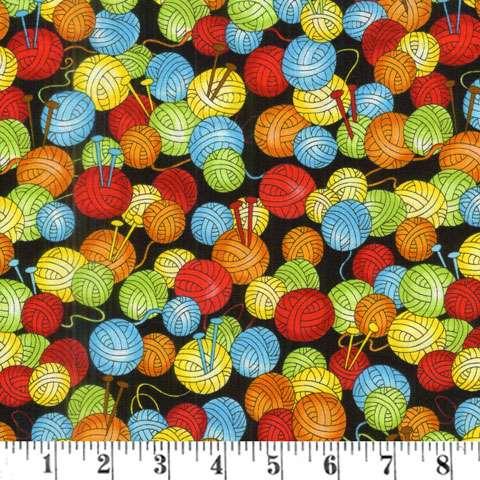AD505 Knit Happy - Multi Balls of Yarn
