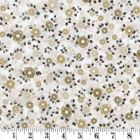 AD523 La Scala Metallic - Small Flower