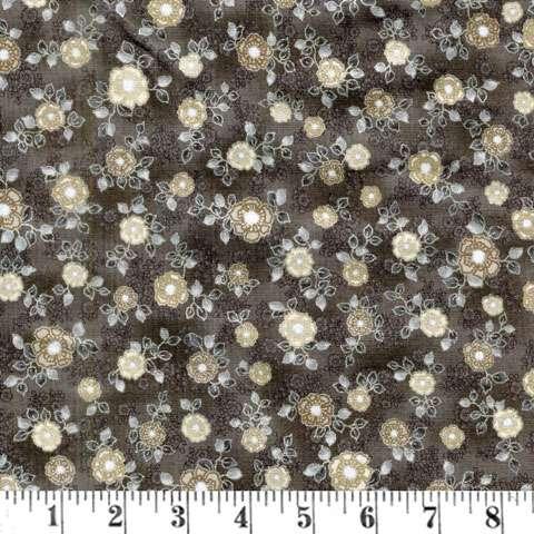 AD524 La Scala Metallic - Small Flower