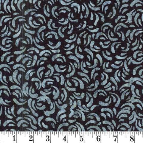 AD530 Batik  - Black Spring Curlicues
