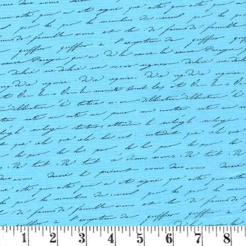 AD536 Garden Splendor - Blue Script