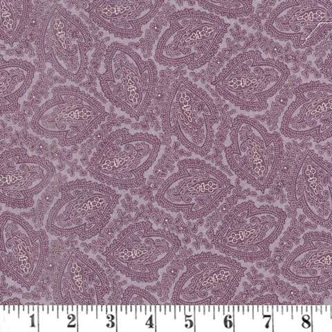 AD539 Putty & Mortar - Paisley Reproduction - Purpl