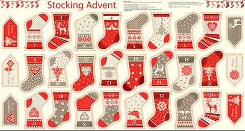 AD610 Scandi 4 - Mini Advent Stocking