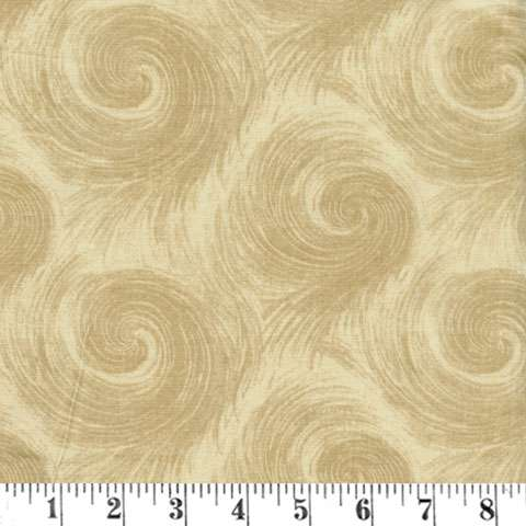 AD701 Extra Wide Backing - Tan Breezy Circle 108""