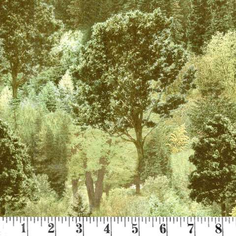 AD712 Mountain View - Forest - Digital Print