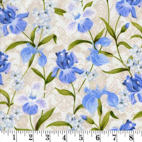 AD769 Serenity - iris design (Fabric)