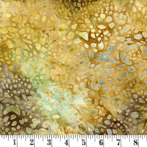 AD782 Batik - Tigerfish - Earth Spots (Fabric)