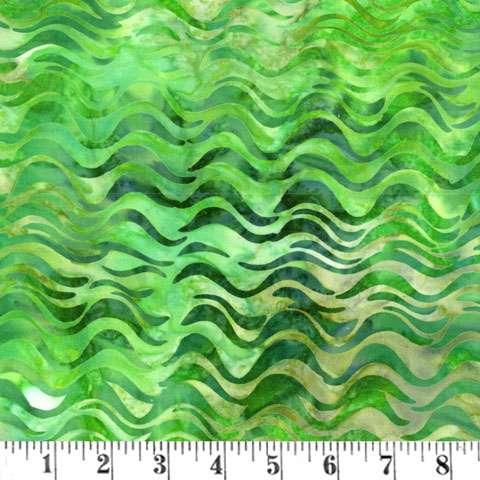 AD791 Batik - Tigerfish - Green Wave (Fabric)