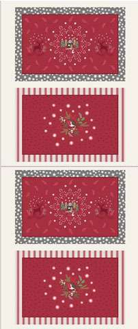 AD818 Christmas Placemat Panels