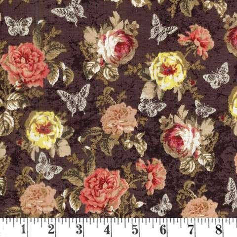 AD826 Afternoon Tea - Brown Floral