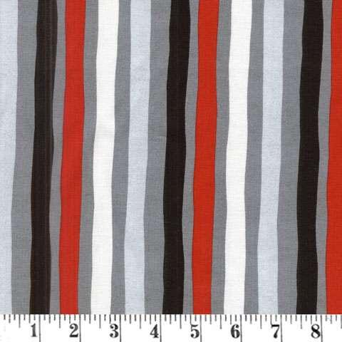 AD845 Around Town Christmas - Multi Stripe