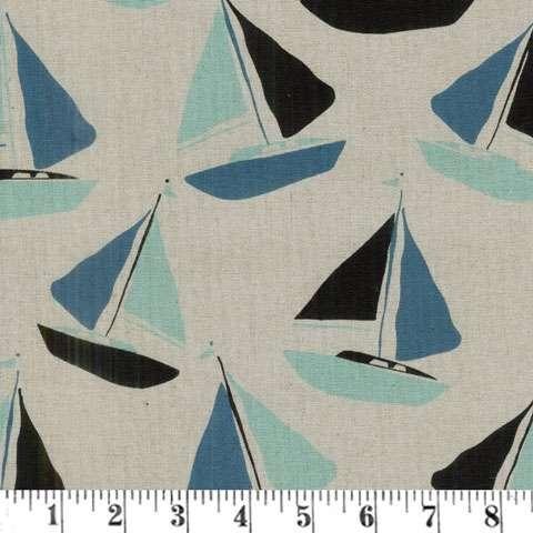 AD870 Tidal Wave - Sail Boats (Linen)