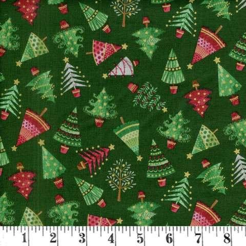 AD877 Traditional Metallic - Christmas Trees