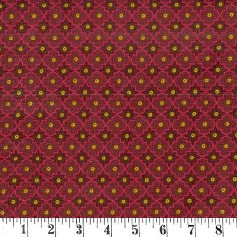 AD884 Winter Cheer - Flannel - red lattice