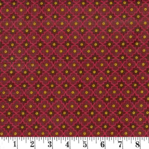 AD884 Winter Cheer - Flannel - red lattice
