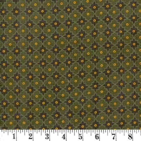 AD886 Winter Cheer - Flannel - green lattice