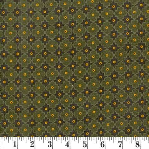 AD886 Winter Cheer - Flannel - green lattice