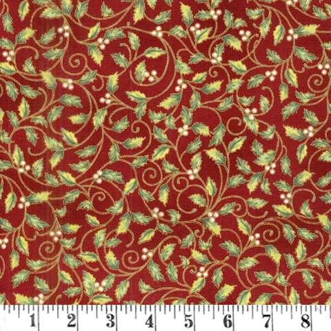 AD892 Winter Blossom - Holly - scarlet/gold