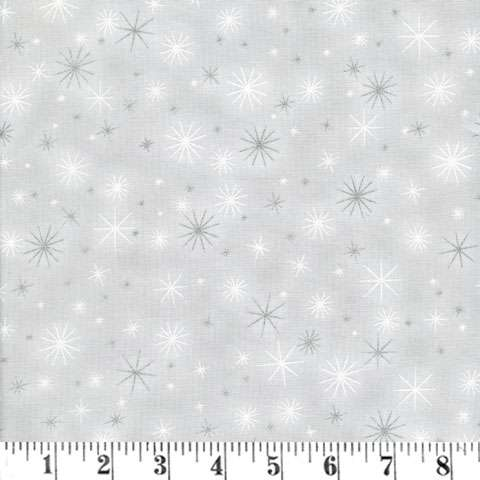 AD906 Winter's Grandeur - snowflakes - silver