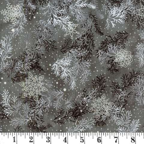 AD910 Holiday Flourish - silver/grey