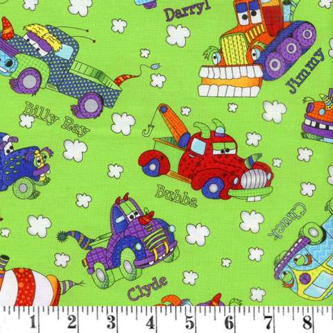 AD918 Monster Trucks - Trucks on Green