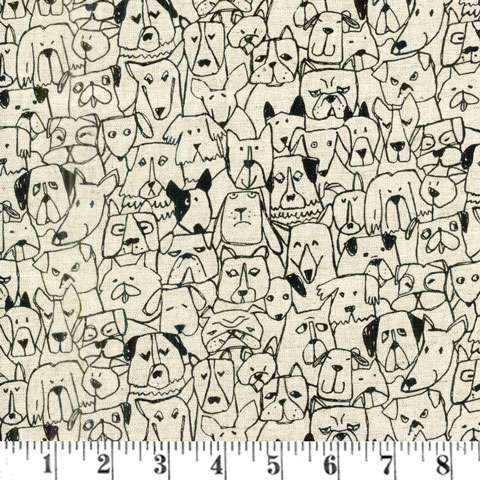 AD934 Kasuga - Dogs - Natural Linen preview