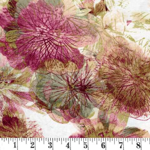 AD936 Floral Impressions - on cream