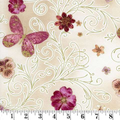 AD937 Floral Impressions - Butterfly