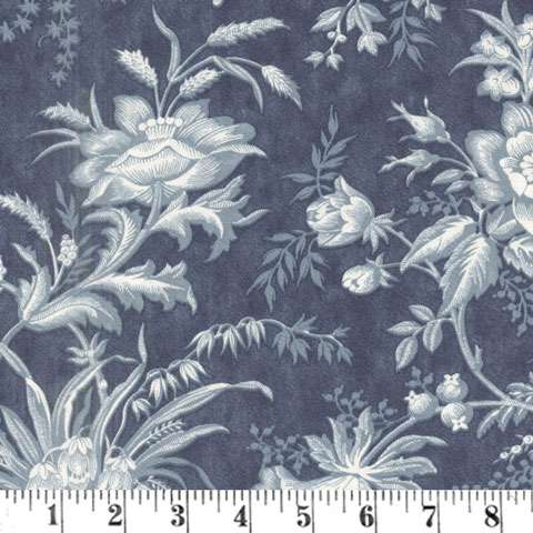 AD958 Extra-Wide Backing - Floral Toile - Midnight