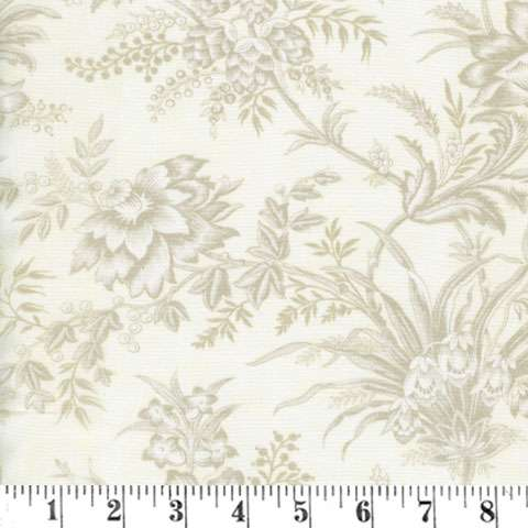 AD959 Extra-Wide Backing - Floral Toile - Snow