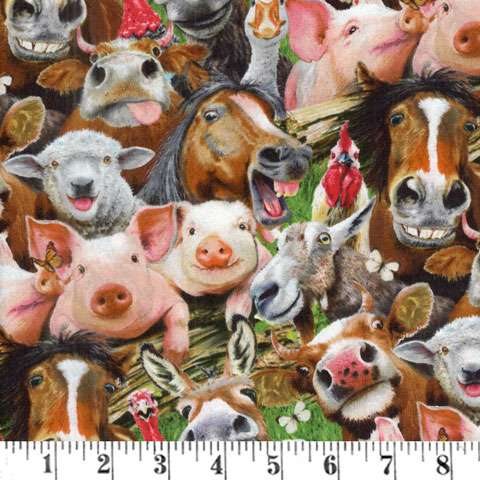 AD969 Farm Selfies - All Over Print