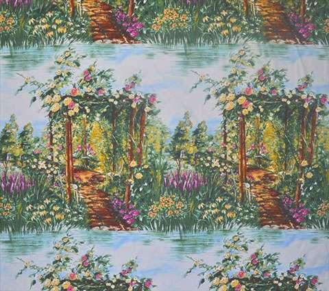 AD974 Rose Arbor - Landscape - Panel Repeat