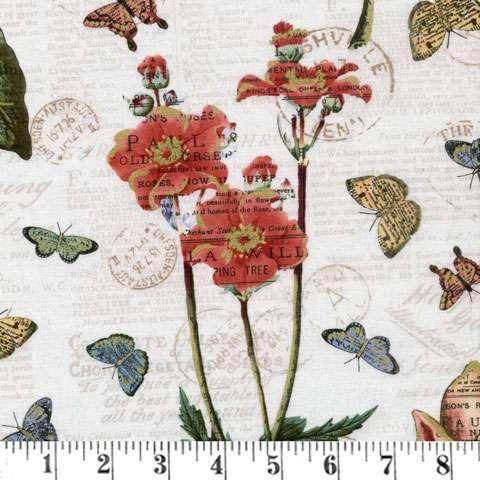 AD985 Bookshelf Botanical - Floral Metallic Overlay