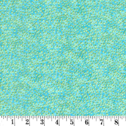 AE051 Flight of Fancy - Green Splotch / Gold Overlay