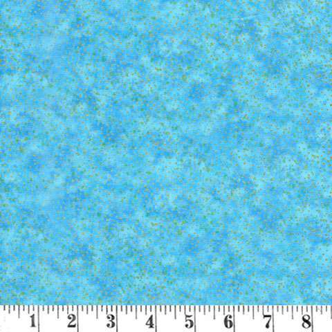 AE052 Flight of Fancy - Blue Splotch / Gold Overlay