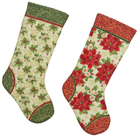 AE064 Tis The Season - Christmas Stockings Panel with gold overlay preview
