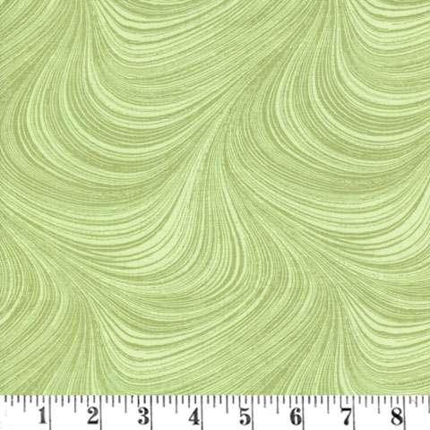 AE077 Wildflower Meadow - Green Swirls