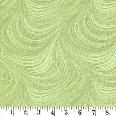 AE077 Wildflower Meadow - Green Swirls preview