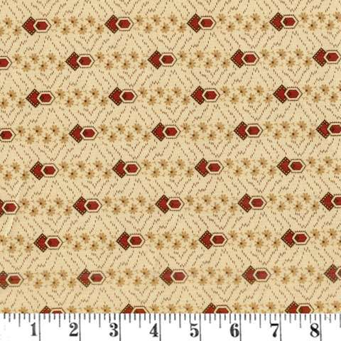 AE100 Timeless - Floral Stripe - Cream/Rust